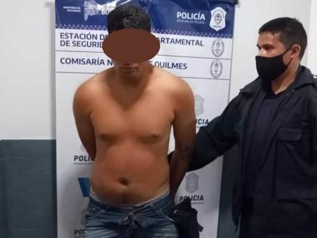 Quilmes Oeste: malviviente le robó el auto a taxista que lo ubicó por GPS y la policía lo detuvo