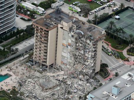 Hay cuatro argentinos desaparecidos por el derrumbe de un edificio en Miami y un muerto