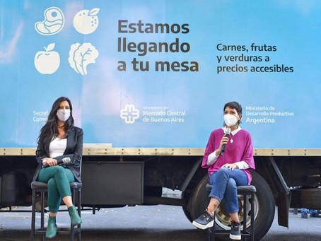 """Mayra y la secretaria de comercio de la Nación presentaron el programa """"mercado federal ambulante"""""""