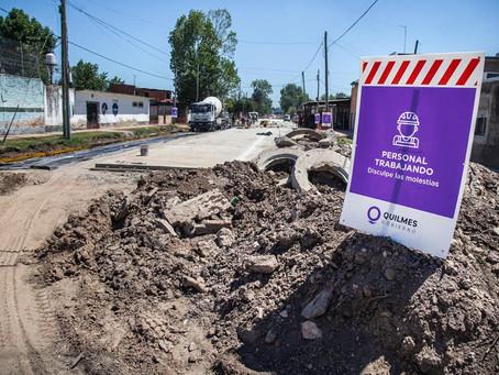 Quilmes: avanza la obra de pavimentación de la calle 816