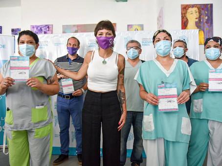 Mayra participó de la histórica primera aplicación de la vacuna Sputnik V en Quilmes