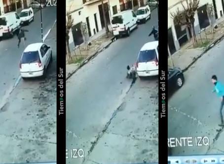 San Martín: Vecino evitó robo con tremenda patada voladora