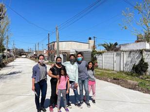 """Mayra recorrió obras de Villa La Florida: """"Vamos a seguir mejorando la realidad de nuestros barrio"""""""