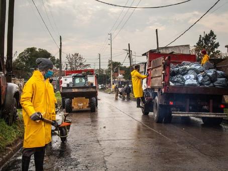 Operativo integral de limpieza en el barrio La Sarita de Quilmes Oeste