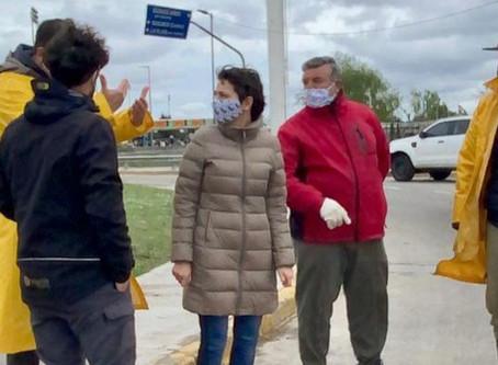 Mayra supervisó el operativo que se desplegó en la Ribera de Quilmes por la sudestada
