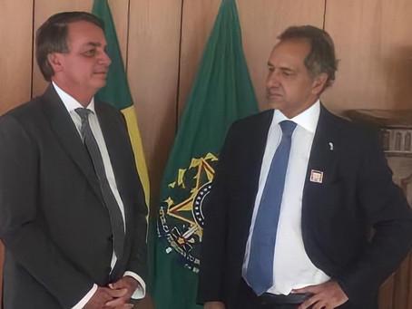 Bolsonaro recibió a Scioli y garantizó las exportaciones de trigo argentino a Brasil