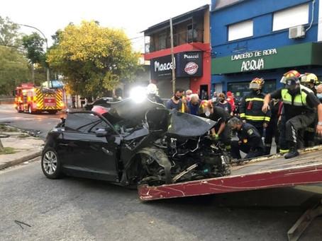 Alcohol, choque y tragedia en Lanús: dos hermanas murieron y hay tres heridos tras violento impacto