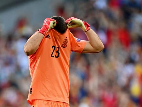 El increíble blooper del arquero de España que le dio el gol a Croacia en octavos de la Eurocopa