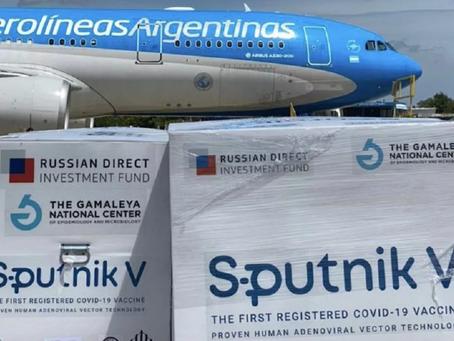 Llegan 500 mil Sputnik V y Argentina supera las 12.000.000 de dosis