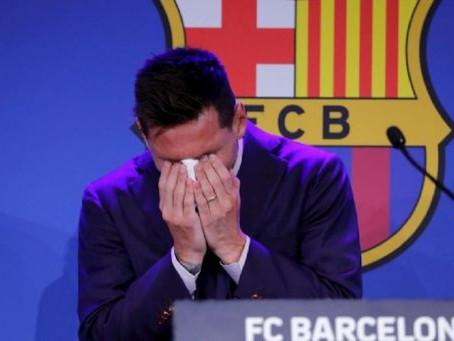 """Messi totalmente quebrado dejó un mensaje despedida al Barcelona: """"Es solo un hasta luego"""""""