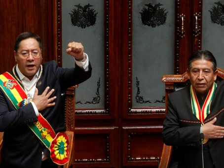 """Arce asumió como presidente: """"La voluntad del pueblo estuvo amenazada por un gobierno de facto"""""""