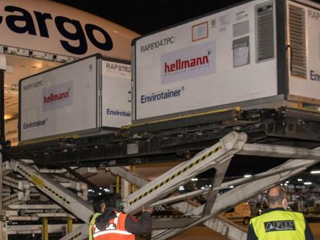 Coronavirus: arribó desde China el vuelo de Lufthansa con 244.800 dosis de Sinopharm