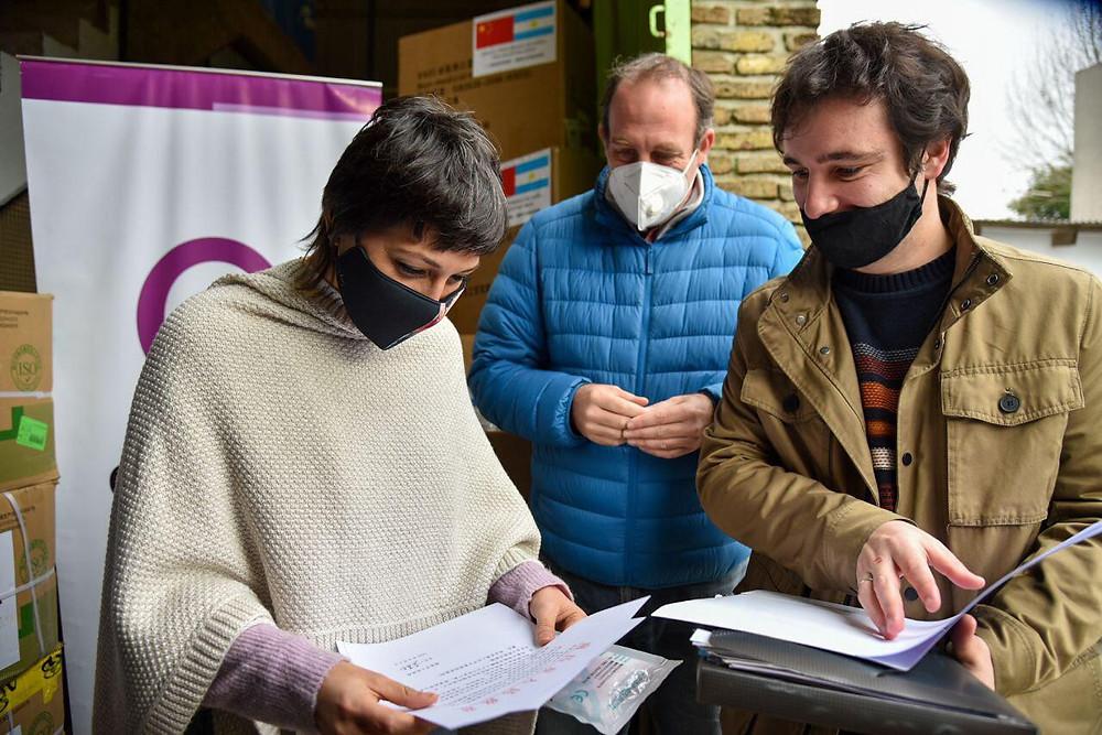 Quilmes recibió una impresionante donación de barbijos de China
