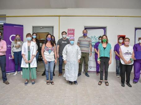 Segundo día de campaña de vacunación contra el coronavirus en el Hospital Oller