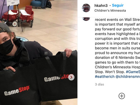 Ganó miles de dólares con acciones de GameStop y donó una parte para un hospital infantil