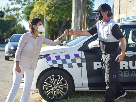 Mayra supervisó un operativo de control vehicular en Bernal