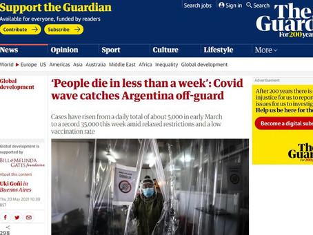 """The Guardian reflejó la """"politización de la pandemia"""" en Argentina y apuntó a Juntos por el Cambio"""