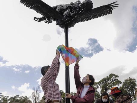 Mayra participó del acto por el día internacional de la mujer indígena