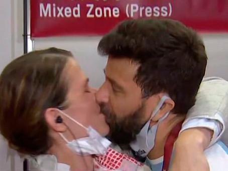¡Le propuso casamiento en vivo! La historia de la esgrimista Belén Pérez Maurice y su entrenador