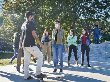 Mayra inauguró el Skatepark Municipal del Parque de la Ciudad