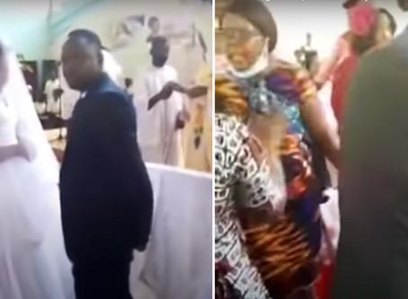 Tremendo momento: una mujer irrumpió en una boda diciendo que es la esposa del novio