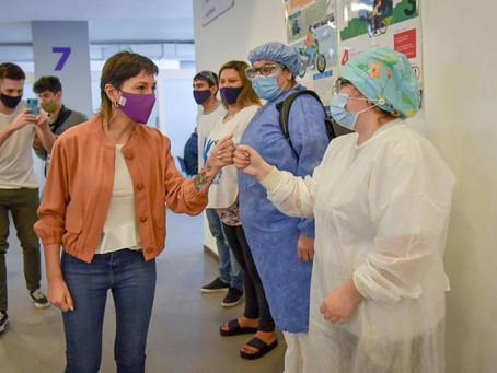 Mayra destacó los avances del Plan de Vacunación en Quilmes