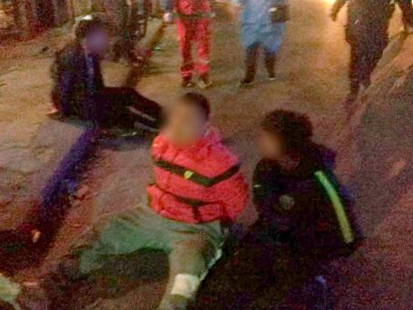 Persecución en la General Paz: escaparon de un control, chocaron a una familia y fueron detenidos