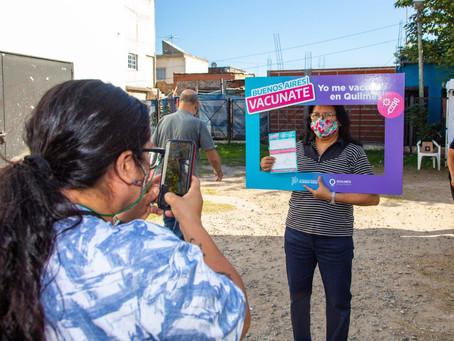 Quilmes tuvo récord de vacunados en un día y es el distrito con más dosis aplicadas en la región