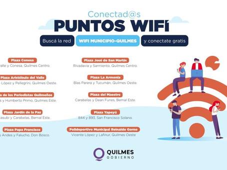 El Municipio de Quilmes instalará Wifi gratuito en los espacios públicos del distrito