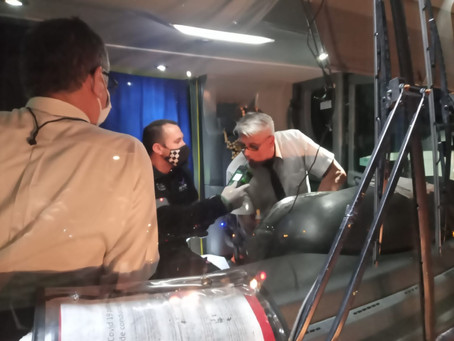 El Municipio de Quilmes realiza testeos de alcoholemia a choferes de micros de viajes de egresados