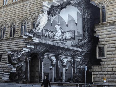 """Un artista '""""reabrió"""" un museo de Florencia con una espectacular ilusión óptica"""