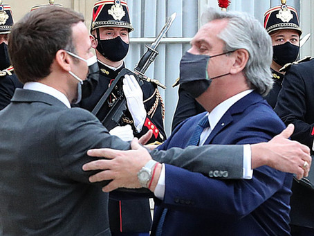 """Macron a Alberto Fernández: """"Sé cuáles son sus esfuerzos señor Presidente. Francia está a su lado"""""""