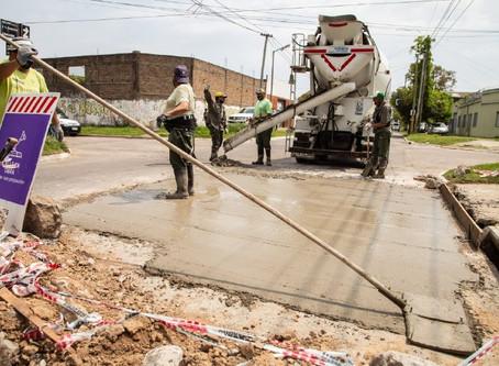 Quilmes: continuaron los trabajos de hormigonado en el barrio La Colonia