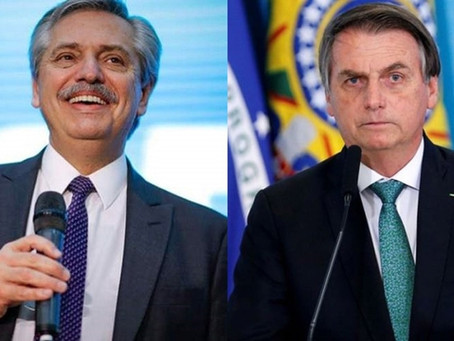 """Bolsonaro a Alberto Fernández: """"La única rivalidad entre nosotros será el sábado en el Maracaná"""""""