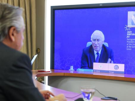 Alberto Fernández mantuvo una videoconferencia con el primer ministro de Portugal, António Costa