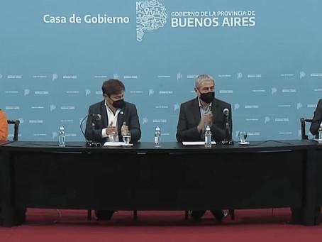 Mayra Mendoza junto a Kicillof y Ferraresi firmaron convenios del programa Casa Propia-Construir