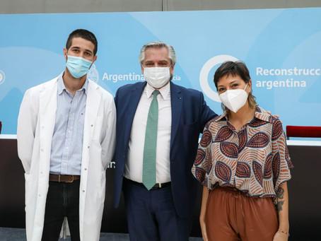 Alberto Fernández anunció un bono de $6.500 durante tres meses para el personal de salud