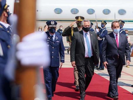 Alberto Fernández ya está en Chile para reforzar la relación bilateral