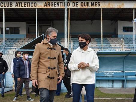 Mayra tuvo un sábado con una intensa agenda de trabajo en Quilmes