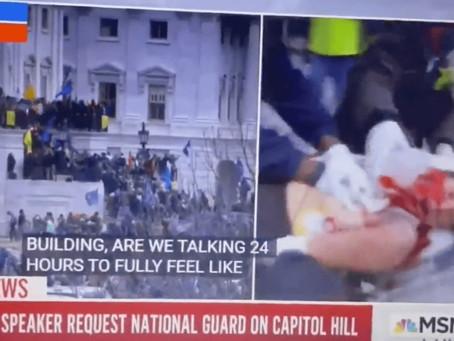 Máxima tensión en el Capitolio: una mujer fue herida de bala