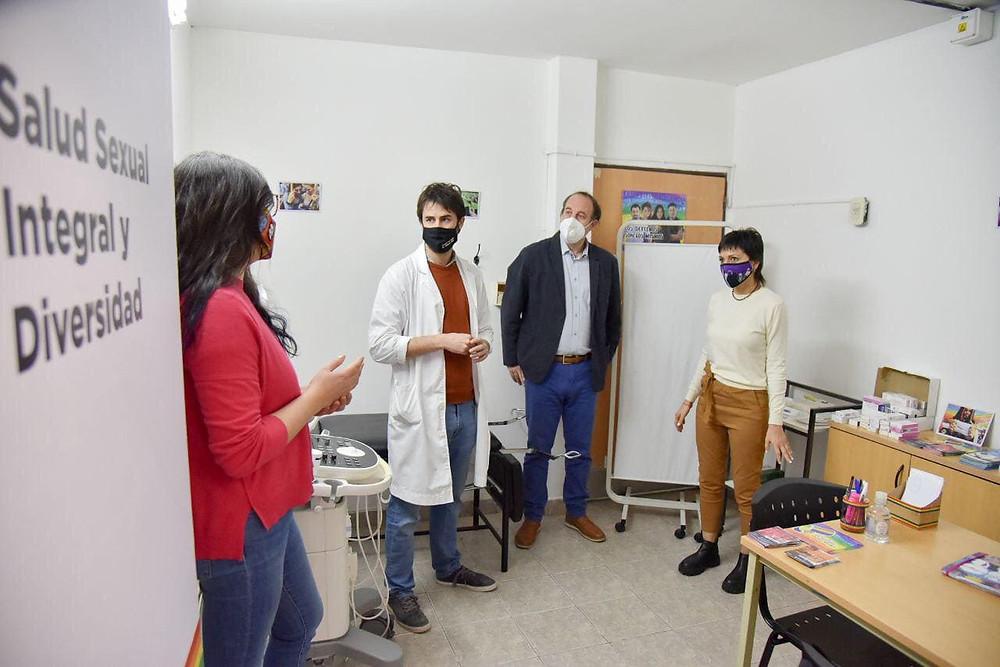 Mayra inauguró un consultorio de salud sexual integral y diversidad en el Hospital Oller de Solano
