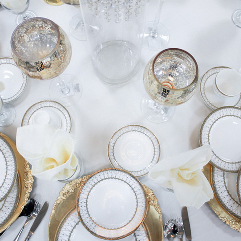 Gold Accent Table Setting