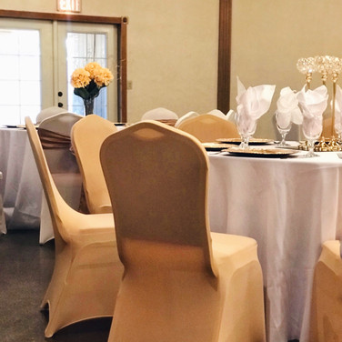 Champagne Chair Cover