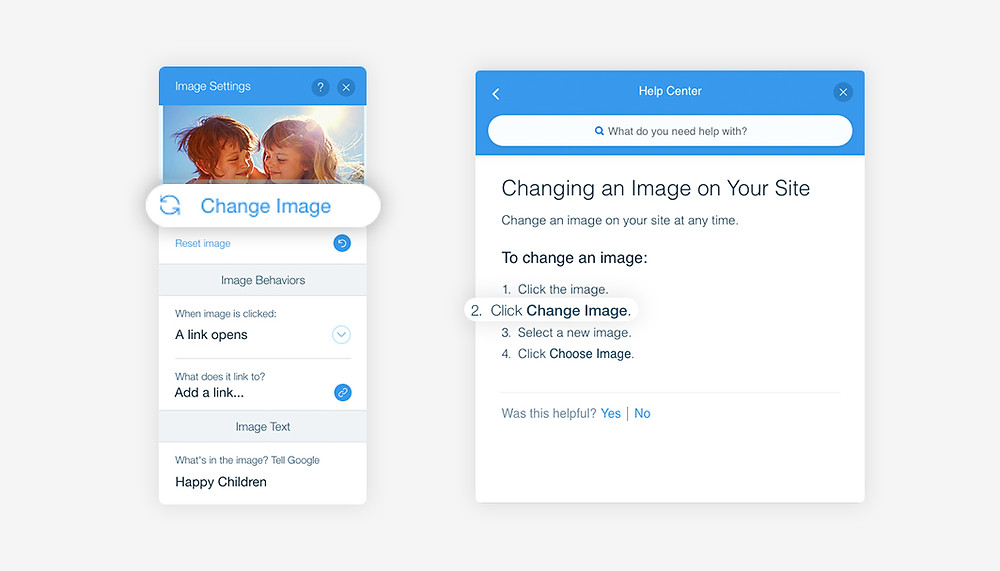 how to change an image with Wix