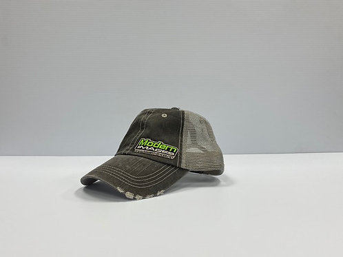 Unstructured Green Trucker Hat