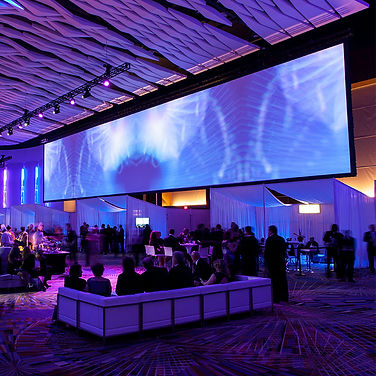 Large event projector screen