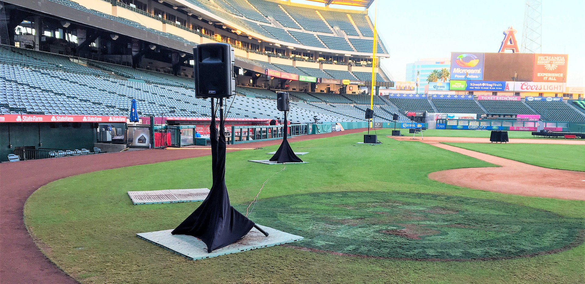 Angels Stadium Audio Setup