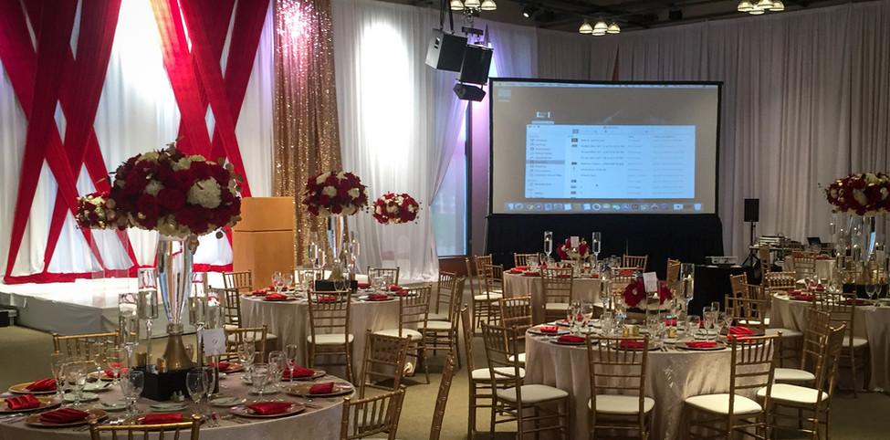Gala Event Projection Screen Setup