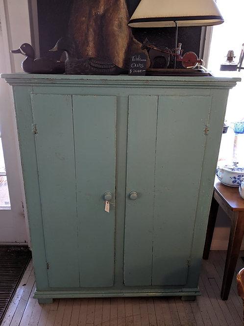 Armoire 2 portes bleu turquoise