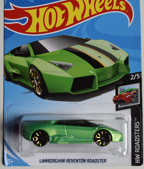 Hot Wheels Roadsters 2 5 Green Lamborghini Reventon Roadster 18 250